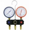 Baterie 2 manometre: R134A, R404A, R407C, R507
