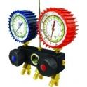 Baterie cu 2 manometre pentru aer conditionat: R22, R407 si R410