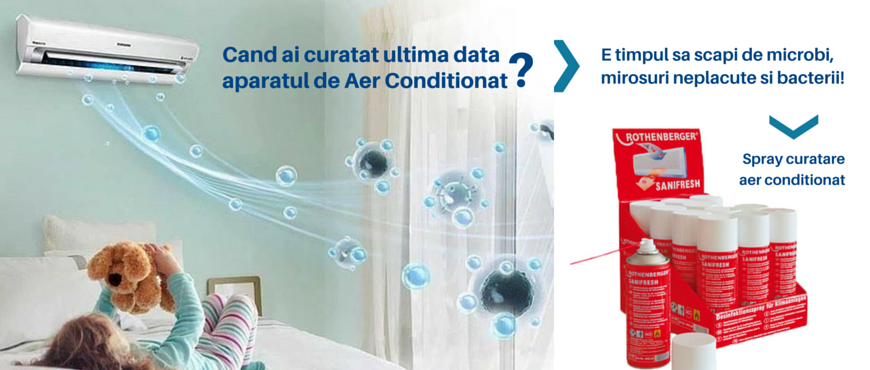 spray curatare aer conditionat