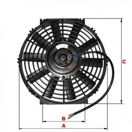 Ventilator auto 24V, elice 28cm