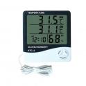 Termohigrometru digital cu ceas si sonda