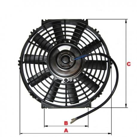 Ventilator auto 12V, elice 28cm