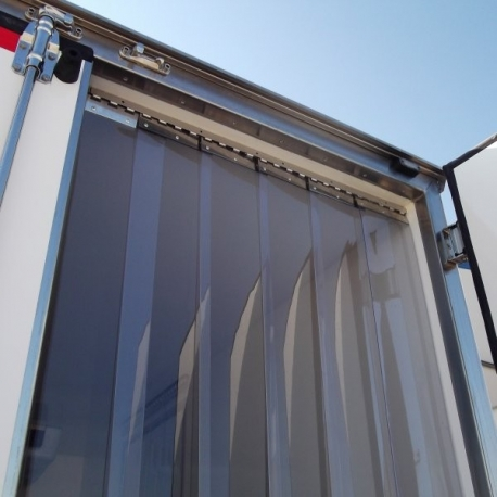Perdea PVC transparenta, latime 100mm, grosime 2mm