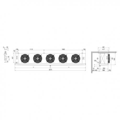 Evaporator CTE 355A6 ED Luvata