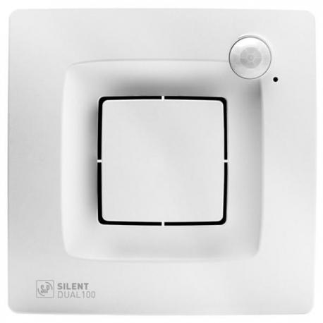 Ventilator baie cu senzor de miscare si umiditate, Silent Dual 100
