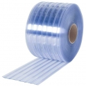 Perdea PVC cu nervuri, fasii 300mm x 3mm