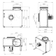 Dimensiuni ventilator extractie bucatarie (hota) Ruck MPS 450 E4 20