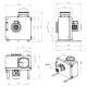 Dimensiuni ventilator extractie bucatarie (hota) Ruck MPS 225 D2 30