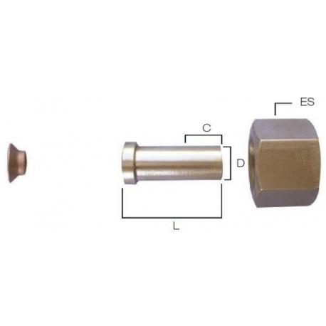 Piulita 1/4 inch cu racord sudabil 1/4 inch si saiba