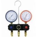 Baterie 2 manometre: R134A, R404A, R407C
