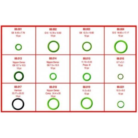 Trusa de oring-uri Elke 88180, 10 bucati x 12 modele