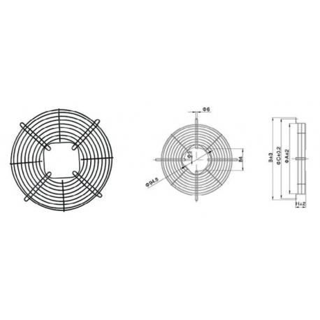 Carcasa protectie ventilator 230 mm