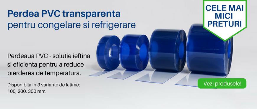 Perdea PVC transparenta