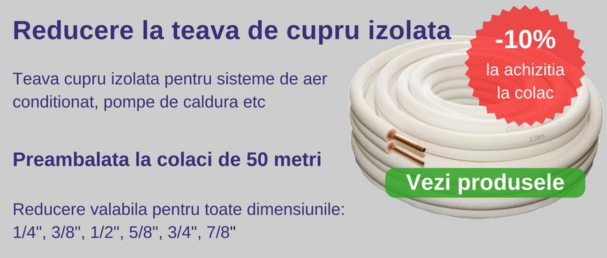 Achizitioneaza colaci de teava cupru izolata si beneficiezi de discount de 10%